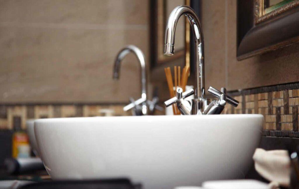 A modern basin sink