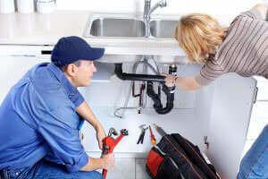Biard & Crockett plumber helping a homeowner in Westminster, CA